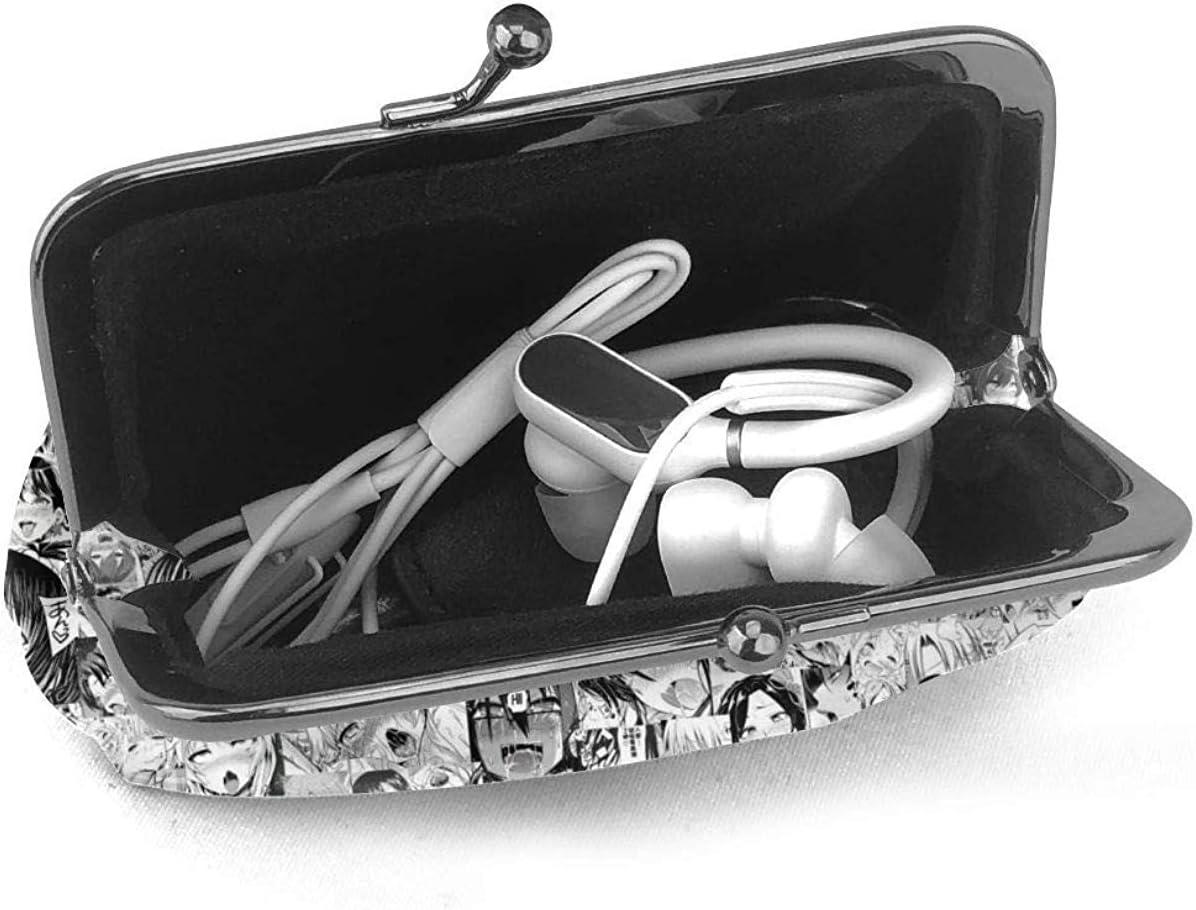 Lawenp No/ël Anime Black Clover Cash Coin Porte-Monnaie Toile Zipper Make Up Pochettes avec Bracelet /à bandouli/ère pour t/él/éphone Portable
