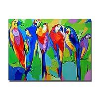 Gbwzz pappagallo pittura a olio dipingere a mano uccelli dipinti di alta qualità pittura a olio su tela di canapa uccelli decorazione pittura a olio