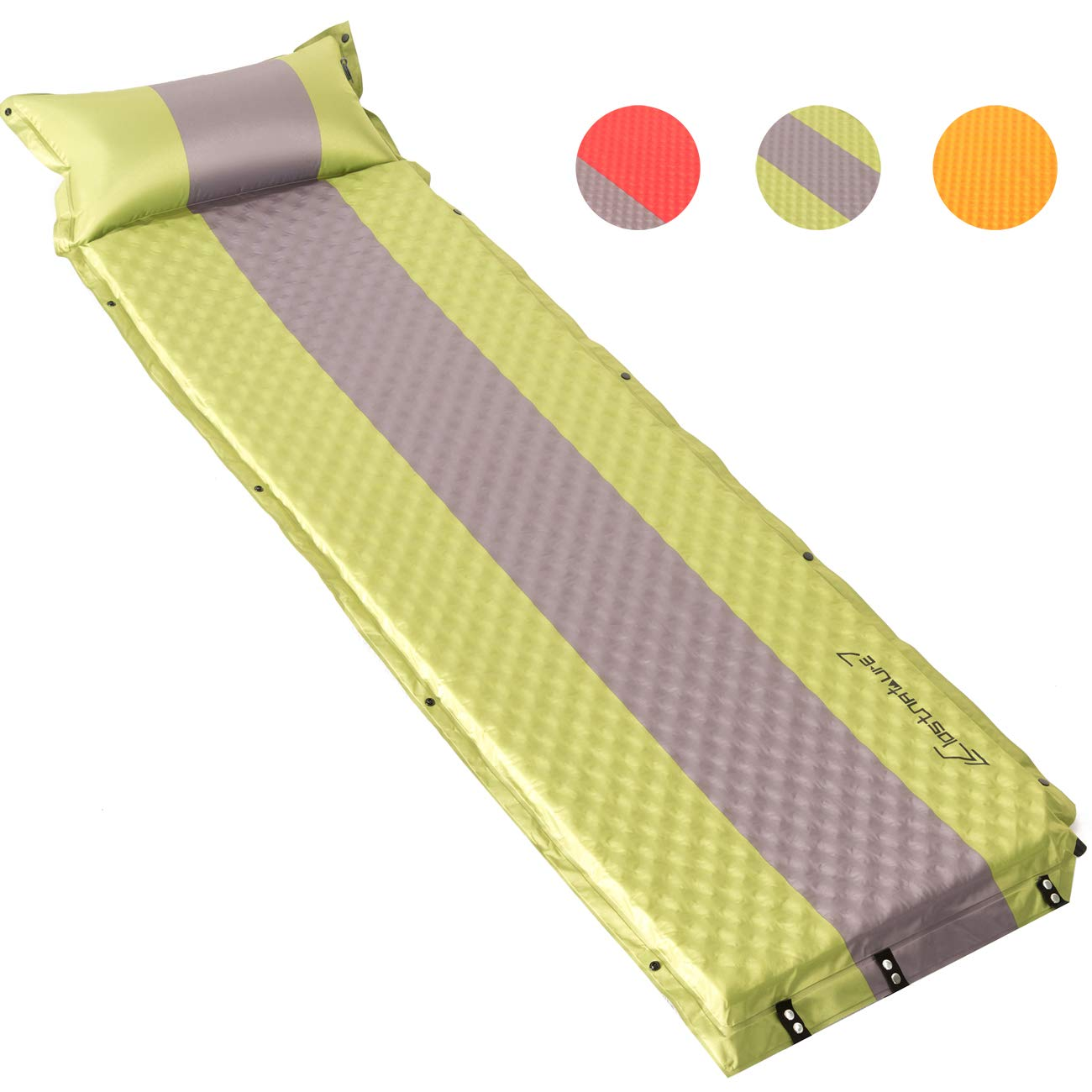 Clostnature Self Inflating Sleeping Pad - Camping Pad, Lightweight Connectable Foam Mat, Comfortable Foam Pad for Camping, Backpacking, Hiking, Outdoor and Tent by Clostnature