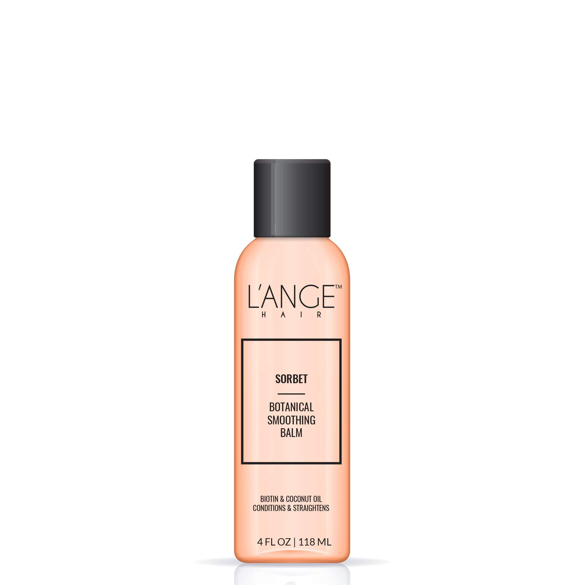 L'ANGE SORBET Botanical Smoothing Balm - Biotin & Coconut Oil - Paraben Free UV Protectant - Deep Conditioning Treatment - Natural Looking Hair Result - Salon Grade Hair Care, 4 FL Oz
