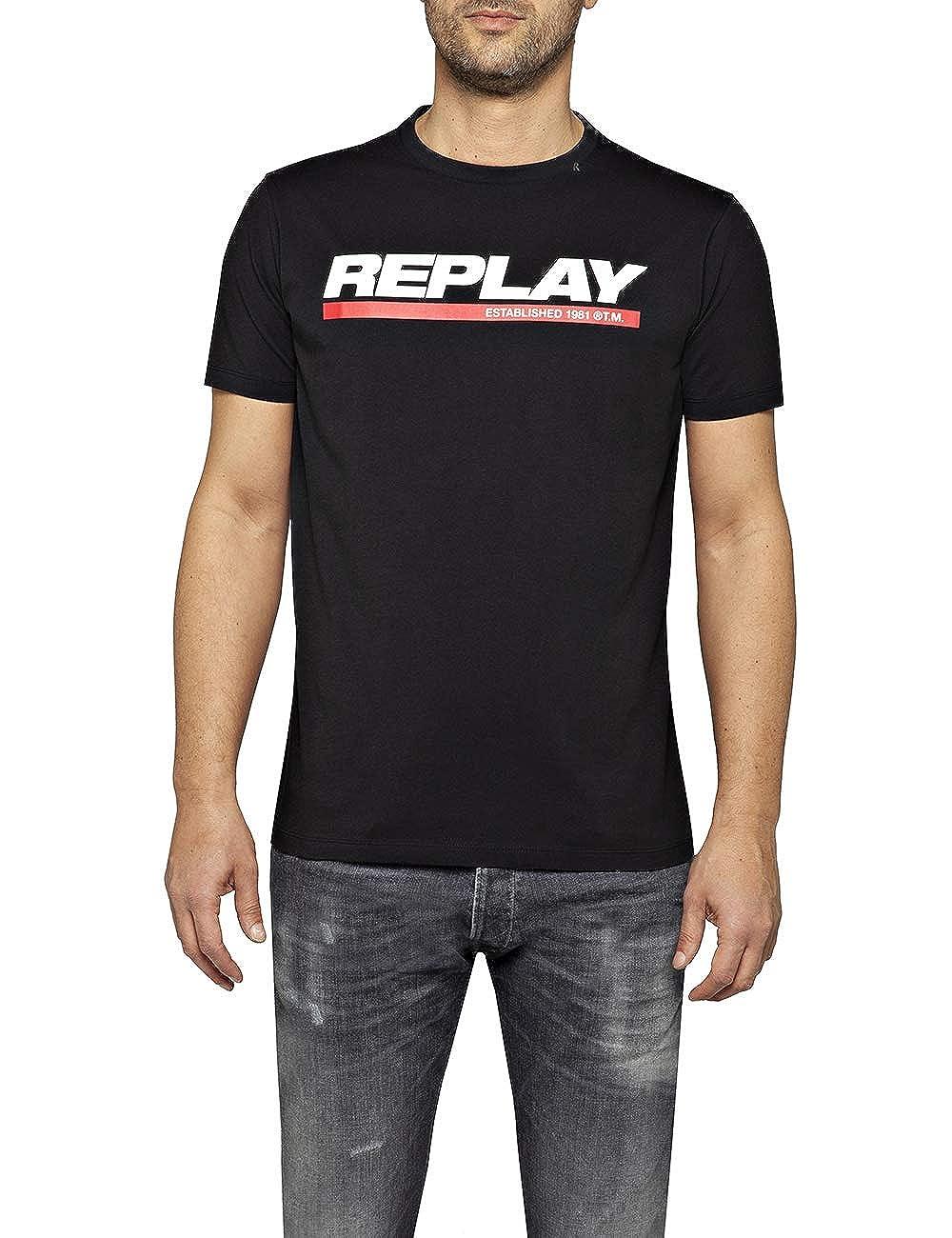 REPLAY Camiseta para Hombre: Amazon.es: Ropa y accesorios