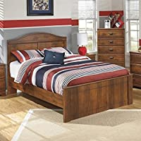 Ashley Barchan Wood Full Panel Bed in Brown