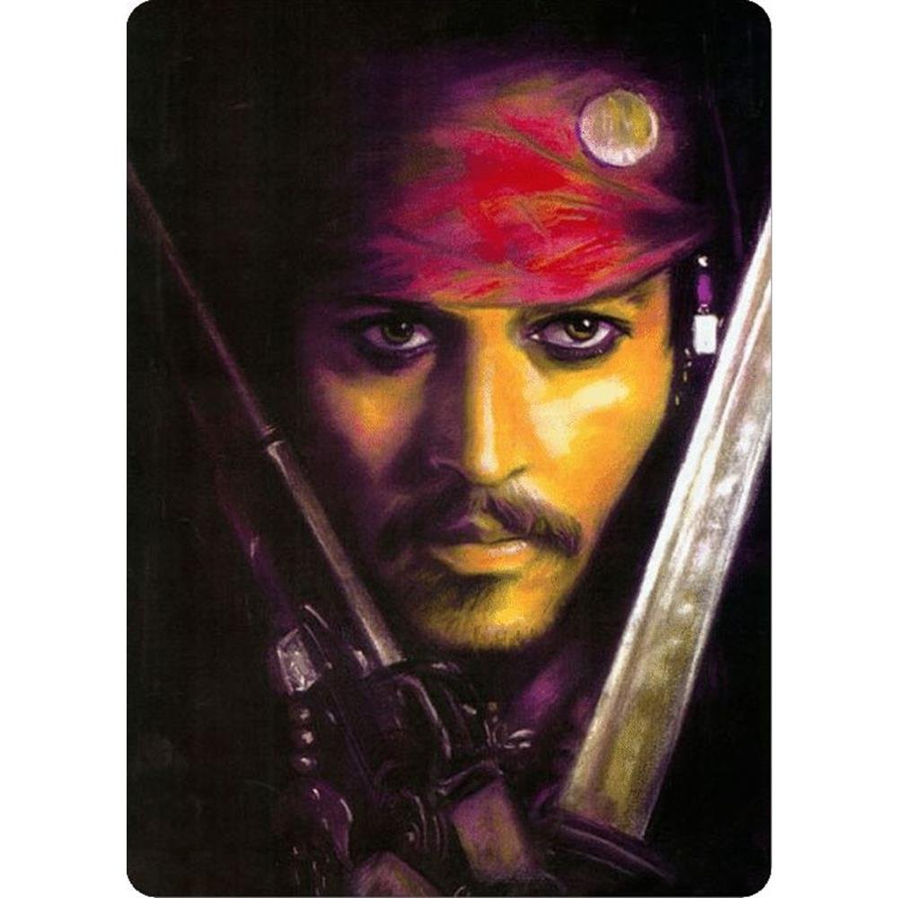Signs 4 Fun S4S4108 Pirate Depp Portrait Small Parking Sign