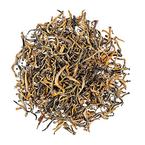 Golden Monkey Black Tea Yunnan - Chinese Tea Yun Nan Dian Hong - Golden Needle - Gold Tips Loose Leaf Dianhong Tea 100g 3.5 Ounce