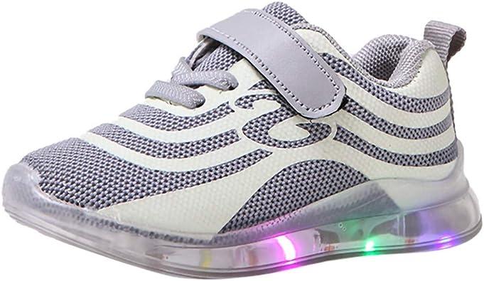 Zapatillas para Niños Niñas con Luces Deportivas Verano Otoño 2019 PAOLIAN Calzado de Deportes Niños Unisex Running Reflectantes Zapatos Bebes Primeros Pasos Bautizo 22-29 EU: Amazon.es: Zapatos y complementos
