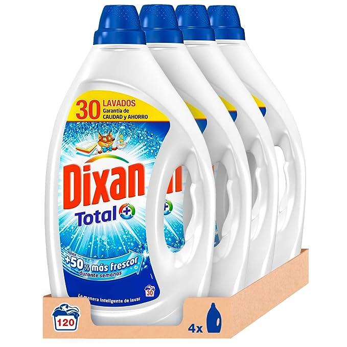 Dixan Detergente Líquido Total 30 Dosis - Paquete de 4, Total: 120 ...