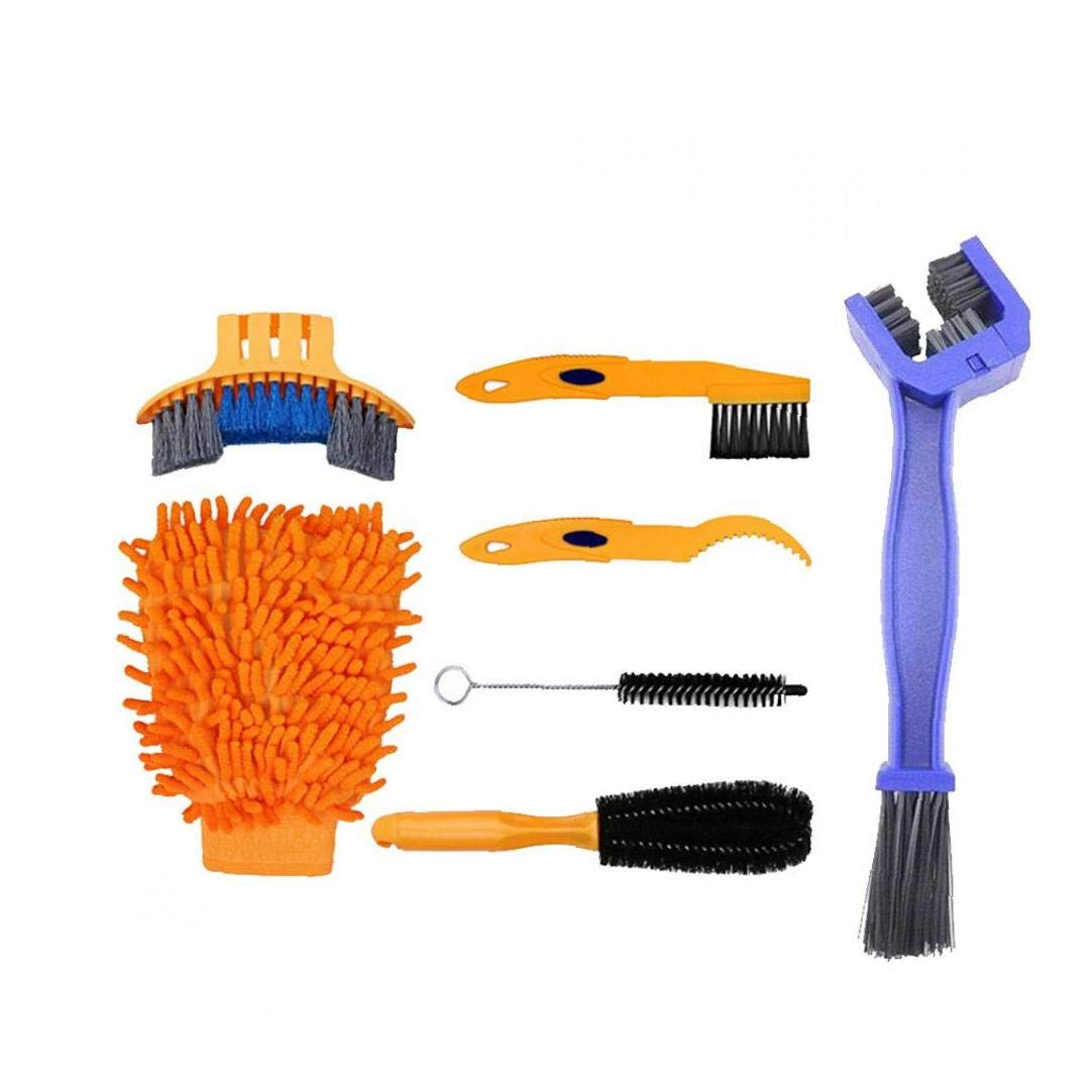 Nettoyage De V/élos Outils Kit De Pr/écision V/élo Brosse De Nettoyage V/élo Cha/îne Scrubber V/élo Coin Stain Dirt Outils Nettoyer 7pcs