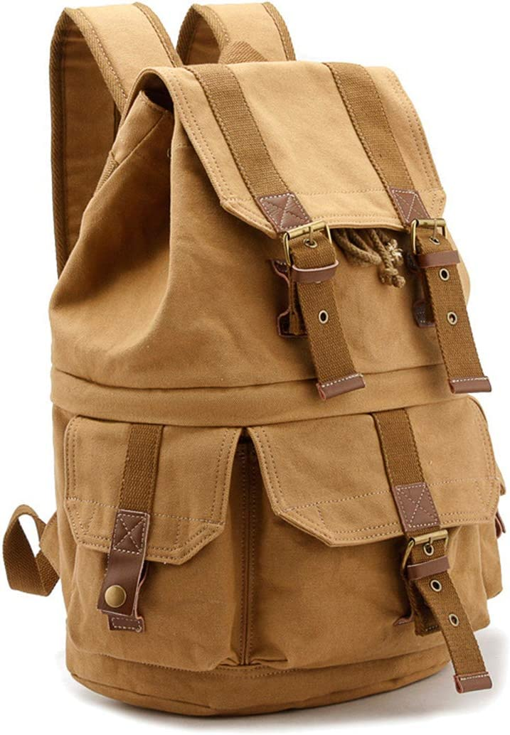 Color : Khaki Backpack Retro SLR Camera Casual Photography Canvas Bag Shoulder Outdoor Travel Bag Photography Backpack Shoulder Bag Digital Bag Travel Backpacks