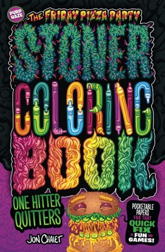 Download The Friday Pizza Party Stoner Coloring Book One Hitter Quitters - Purp Haze: Pocketable Papers for That Quick Fix of Fun and Games pdf epub