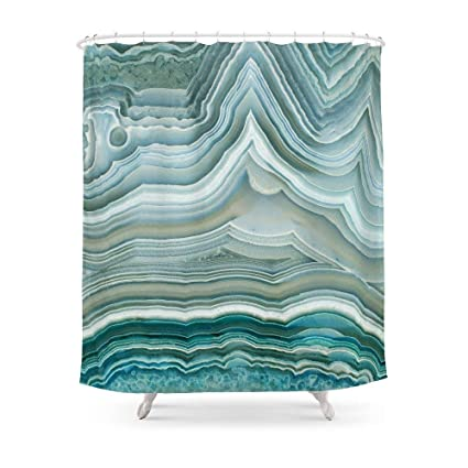 MAOXUXIN Agate Crystal Blue Shower Curtain 60quot