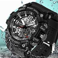 Wdnba Mens Watch Quartz Watch Military Watch Analog Digtal Wrist Watch Men's Sport LED Dive Watches