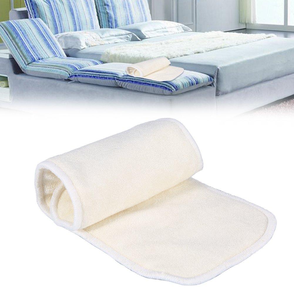 Almohadilla de pa/ñal lavable de tela 4 capas de fibra de bamb/ú natural Incapacidad para adultos Incontinencia de tela pa/ñal almohadilla de revestimiento reutilizable