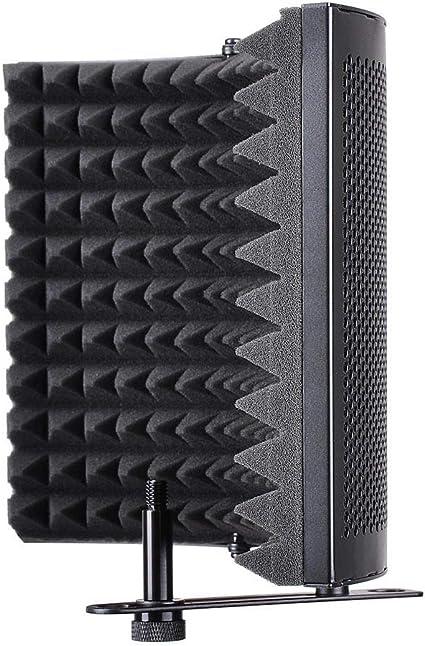 FreeLeben 3 Microfono Pieghevole Isolamento Scudo Microfono Isolamento Acustico Copertura Spugna Schermo Antivento Riduzione Del Rumore Riduce Efficacemente Il Riflesso Del Condensatore