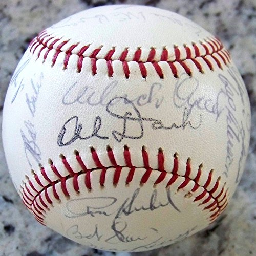 1964 Giants Team Signed Autograph Auto Baseball Willie Mays Mccovey JSA Certified Ah Loa (Willie Signed Baseball Mccovey)
