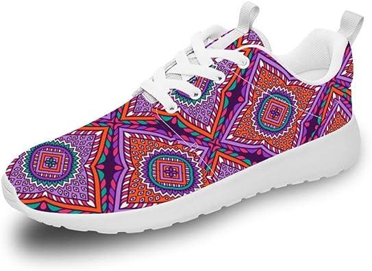 Mesllings Zapatillas de Running Unisex con diseño de Mandala Vintage, sin Costuras, 5 Zapatillas Ligeras para Deportes al Aire Libre: Amazon.es: Zapatos y complementos
