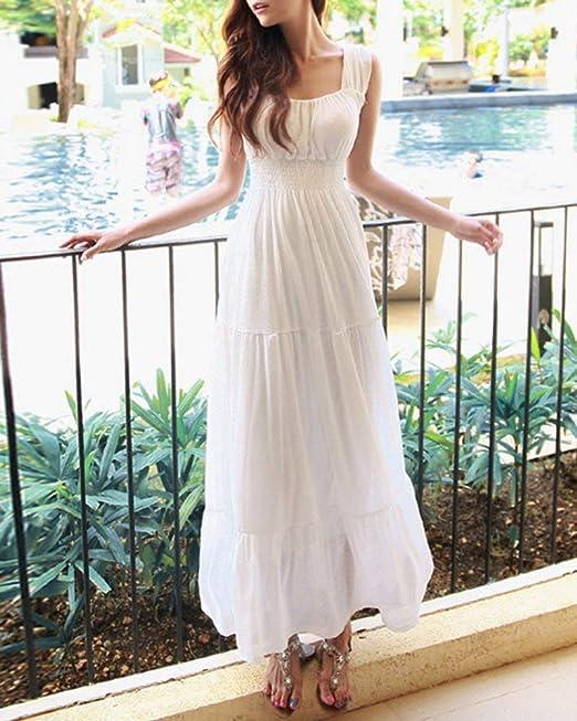 Letnia sukienka damska bez rękawÓw okrągły dekolt długa sukienka elegancka klasyczna vintage Swing linia A plisowana sukienka na imprezę sukienka plażowa moda chłopcy jednokolorowa suki