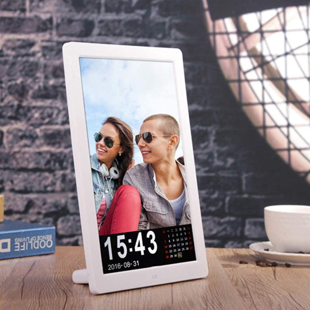TONGTONG Digital Photo Frame 12 inch Digital Picture Frame 16:9 Screen with HD 1280x800 Electronic Picture Frame Advertising Player with Remote Control//Calendar//Clock//Auto On//Off Timer