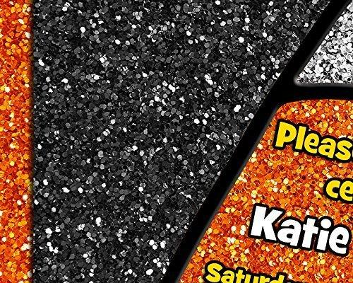 Amazon.com: Glitter Candy Corn Birthday Invitations October ...