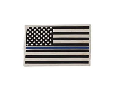 Amazon.com  Thin Blue Line American Flag Police Support Lapel Pin ... 88ed28f63e7