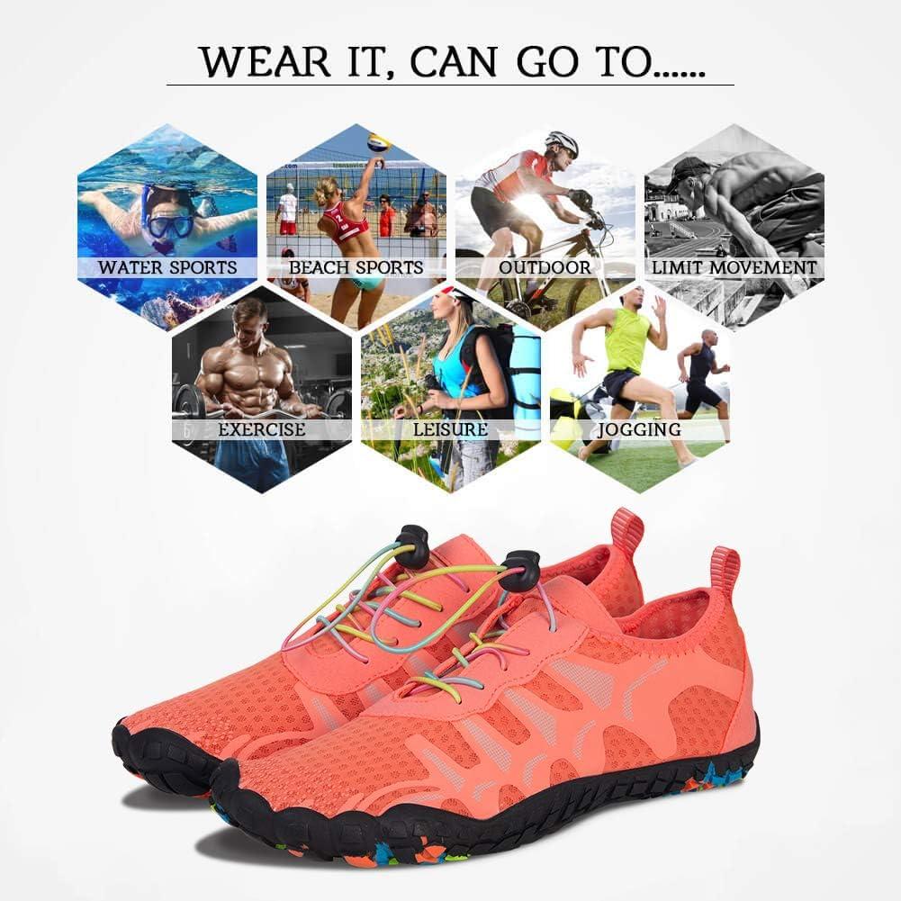 FEIFAN Womens Water Shoes Beach Swim Barefoot Adult Aqua Shoes for Walking Yoga Kayaking
