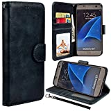 S7 Case, UrSpeedtekLive Galaxy S7 Wallet Case, Luxury PU Leather Flip Case Cover with Card Slots Magnetic Closer & Kickstand for Samsung Galaxy S7 - Black
