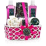 Spa Gift Basket - Rosemary Mint Scent - Best Mother's Day, Wedding, Birthday, Anniversary or Graduation Gift for Women - Bath Gift Sets Includes Shower Gel, Bubble Bath, Bath Salt, Body Lotion & More!