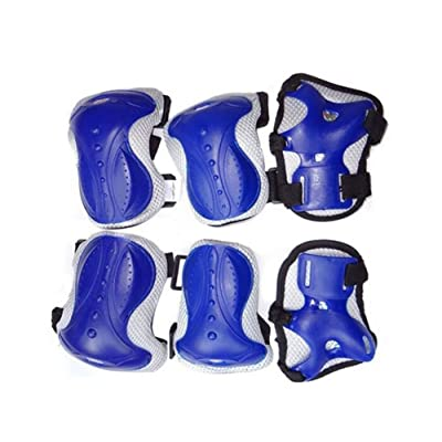 6PCS Unisexe Ensemble de Protections Adulte Genouillères Coudières Support de Poignet Pour Patins à roues alignées Skateboarding Roller Patinage Patinage