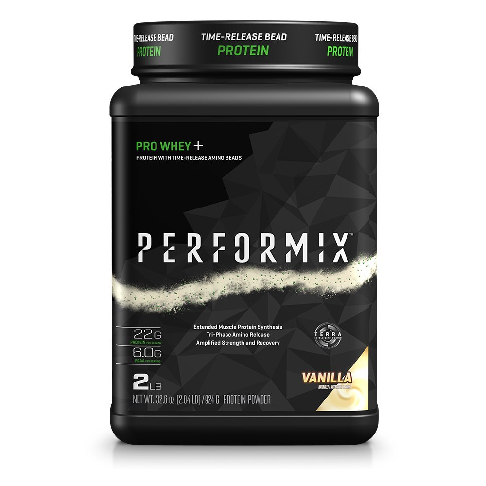 PERFORMIX PRO WHEY Protein Powder with TimeRelease Amino Beads, Muscle Protein Synthesis, Strength and Recovery, 2lb, Vanilla