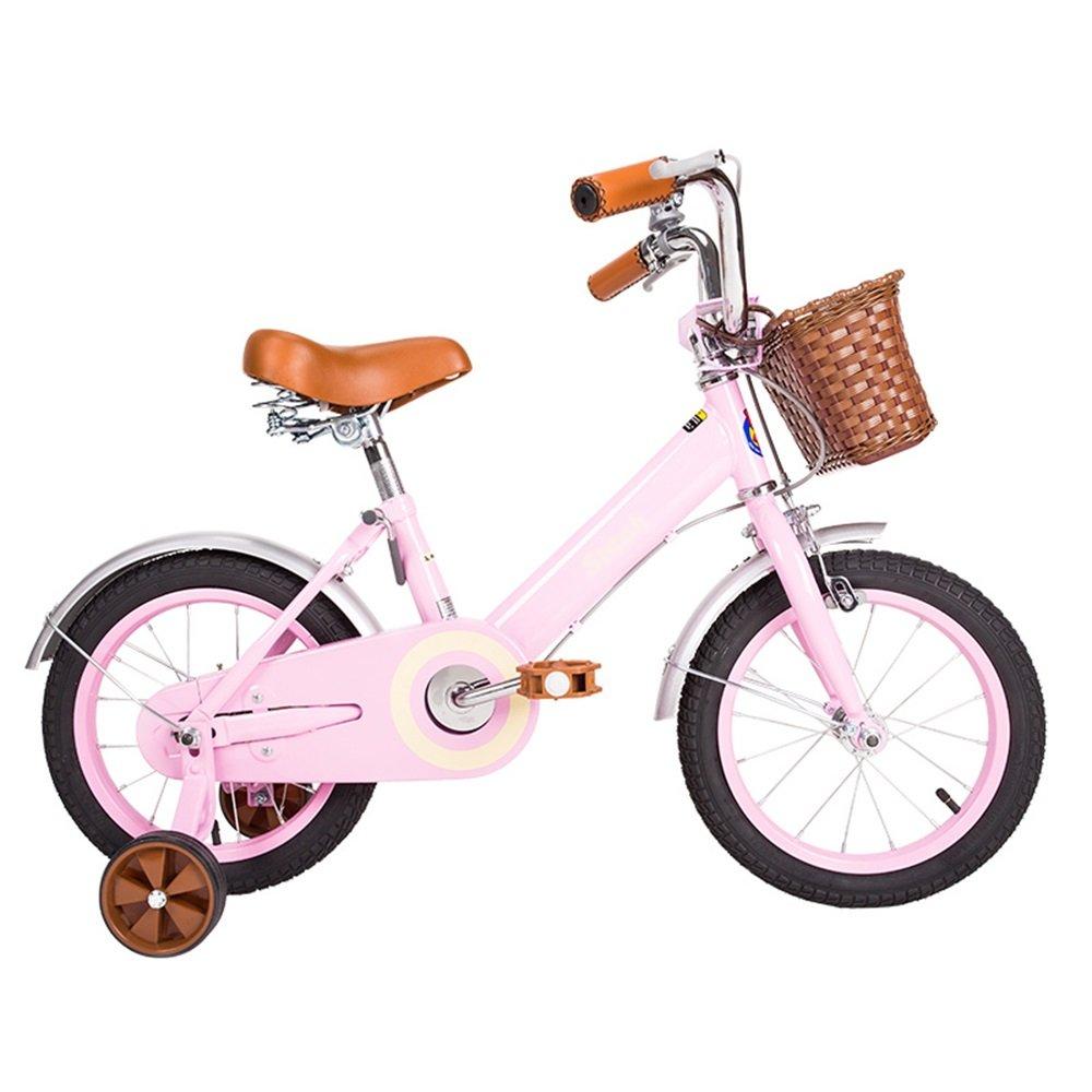 HAIZHEN マウンテンバイク 子供用自転車ベビーキャリッジ12/14/16/18インチマウンテンバイクヴィンテージムーンライトホワイト、ピンク 新生児 B07C6R5TJH 18 inch|ピンク ぴんく ピンク ぴんく 18 inch