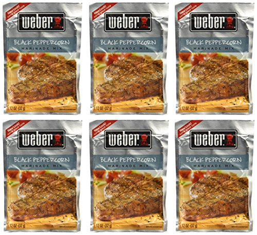 (Weber Black Peppercorn Marinade 1.12 oz (Pack of 6))
