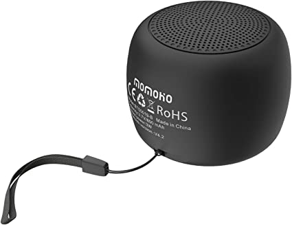 Amazon Com Momoho Small Bluetooth Speaker Mini Size But Great Sound Quality Up To 5 Hours Playtime Photo Selfie Button Answer Phone Calls Bts0019 Black Home Audio Theater