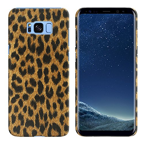 Leopard Skin Phone Protector Case - FINCIBO Galaxy S8+ Plus Case, Back Cover Hard Plastic Protector Case Stylish Design For Samsung Galaxy S8+ Plus G955 6.2 inch - Leopard Spots Skin Pattern