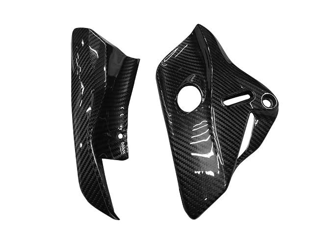 Prepreg de fibra de carbono (seco) de carbono piñón motor cubierta de Panel de bastidor para Ducati Monster 821: Amazon.es: Coche y moto