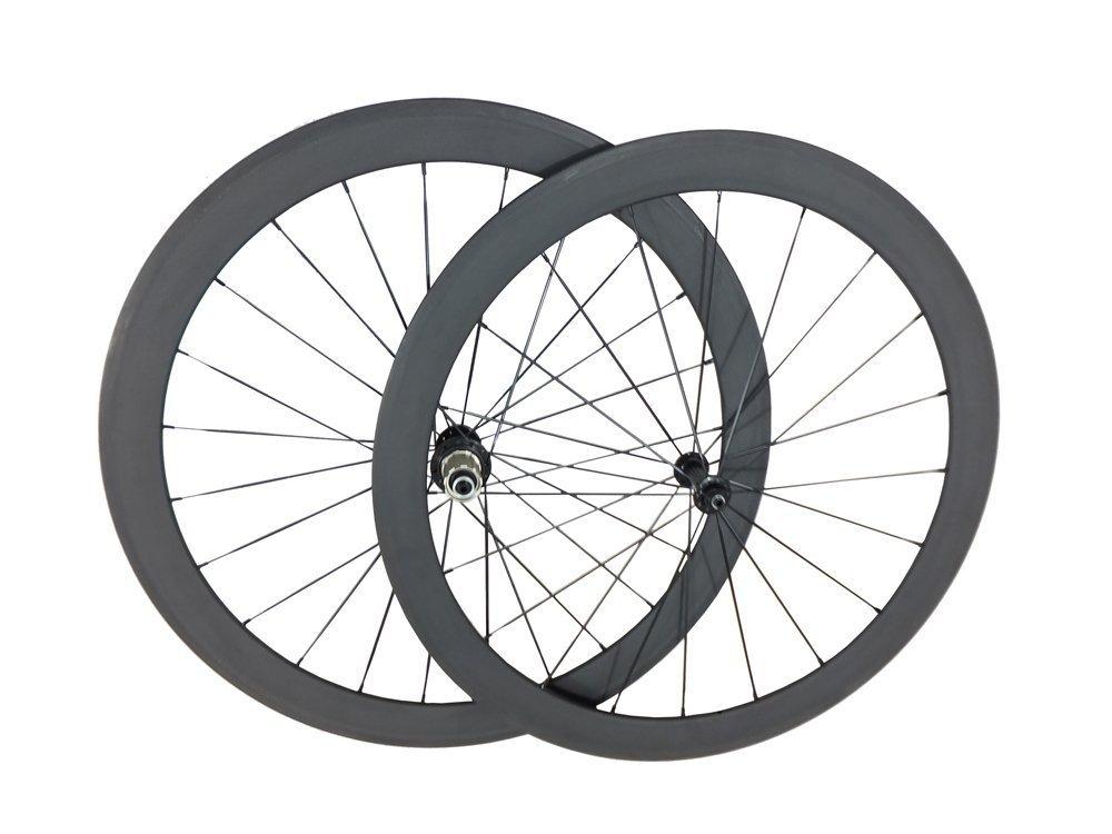 Generic ジェネリック リア 88ミリメートル フロント 50ミリメートル クリンチャー カーボン ロードバイク ホイール 3K Glossy カンパニョーロ 1575g【並行輸入品】+NONOKUROオリジナルグッズ B00LDQ4P1A