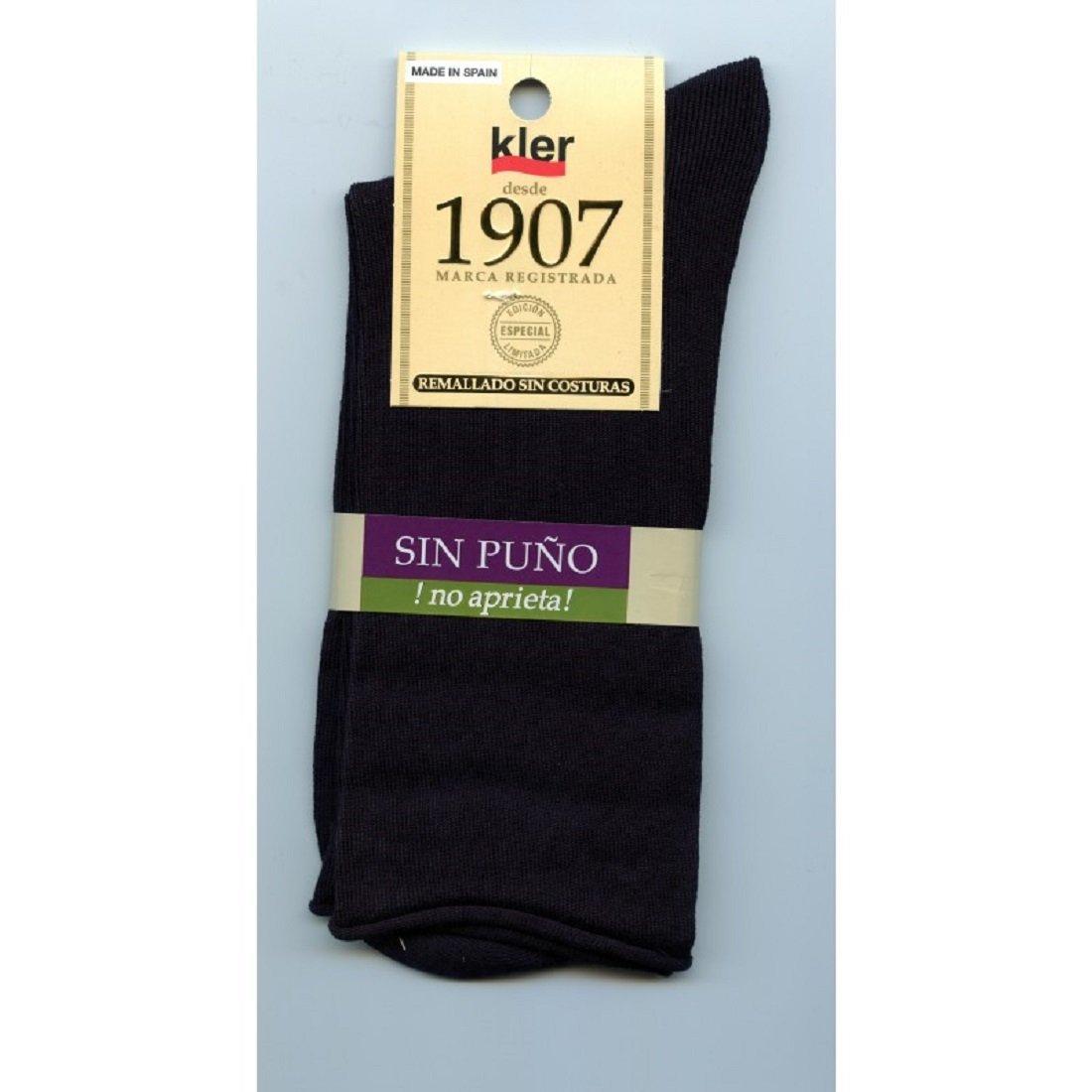 kler 6462 - calcetines algodon sin puño (unica, negro): Amazon.es: Ropa y accesorios