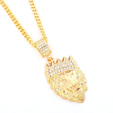 bling plated leaf gold necklace for real hiphop statement overlap jewelry men big chain women pin unisex pendant