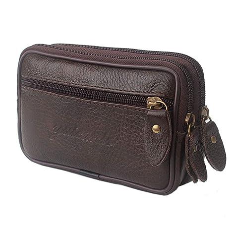 Amazon.com: Bolso de cuero vintage para cinturón de cintura ...