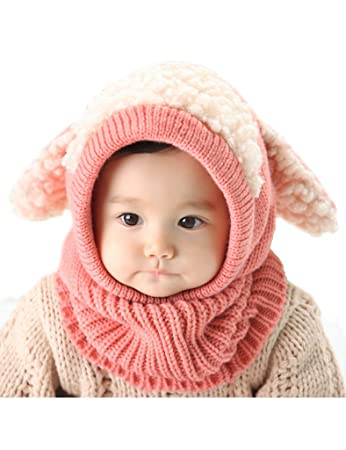 5082f44e84b Buy Sumolux Baby Girls Boys Knitted Winter Warm Woolen Coif Hood Scarf Caps  Hats Online at Low Prices in India - Amazon.in