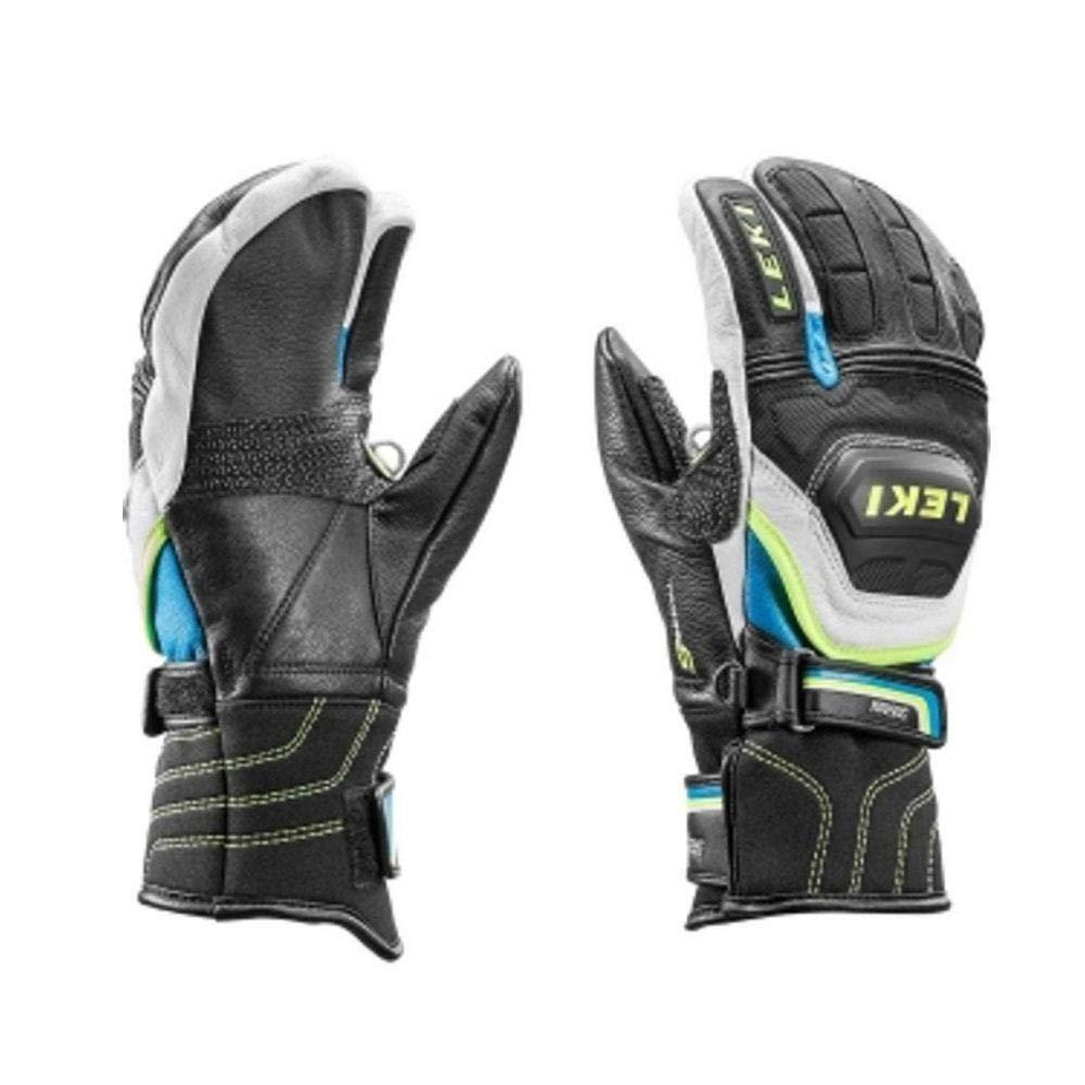LEKI Accessories World Cup Race Flex S Jr Lobster Mitten Black/Cyan