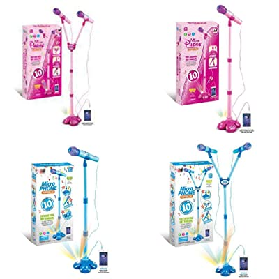 Adidome Kids Education Musical Toy Stand Type Music Microphone with Colorful Light Gift Pianos & Keyboards: Garden & Outdoor