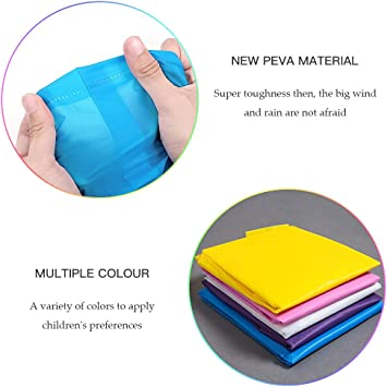 Walsilk 2Pack Emergency Rain Ponchos for Kids,Waterproof Child Raincoats with Hood and Sleeves,Portable /& Lightweight