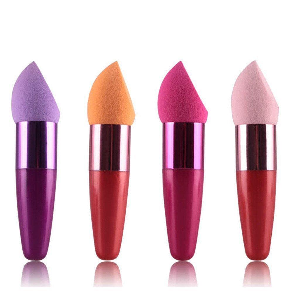 Elevin(TM) Women Cosmetic Liquid Cream Foundation Concealer Sponge Lollipop Brush