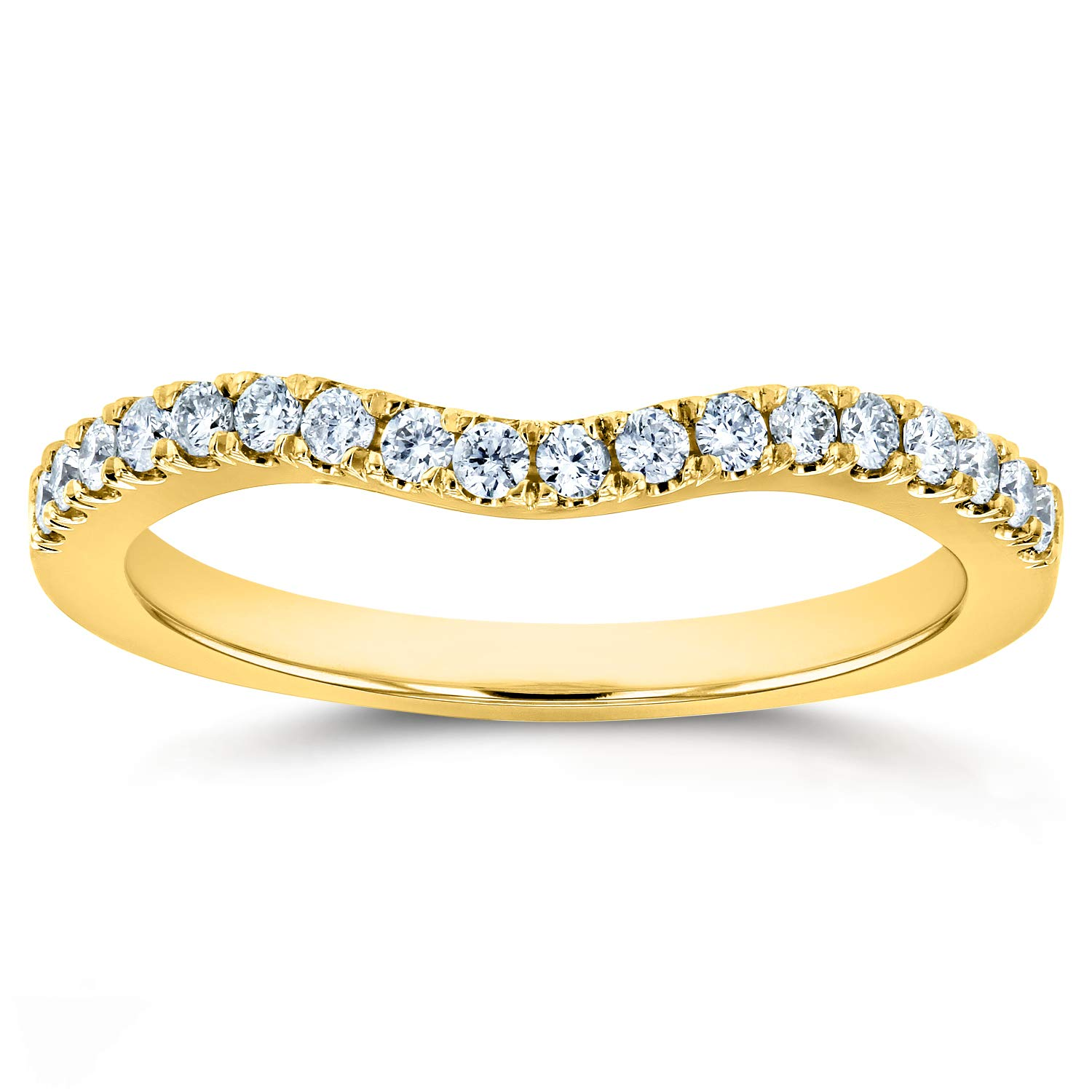 Lab Grown Diamond Womens Curved Wedding Band 1/5 CTW 14k Yellow Gold (DEF/VS), 6