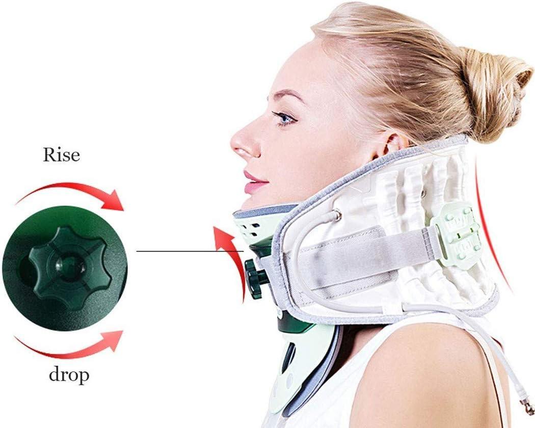 ZZZYZ TraccióN Cervical del Cuello Soportes Collarin Cervical Soporte Alivio del Dolor Ortesis Aparatos OrtopéDicos para El Cuello Y La Parte Superior