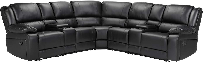 Symmetrical Reclining Sectional Sofa