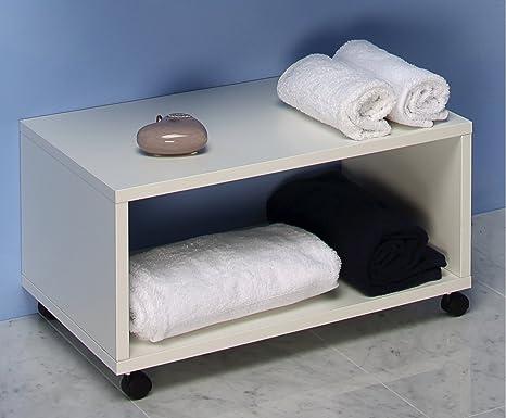 Mobile bagno panca arredo bagno con rotelle da cm amazon
