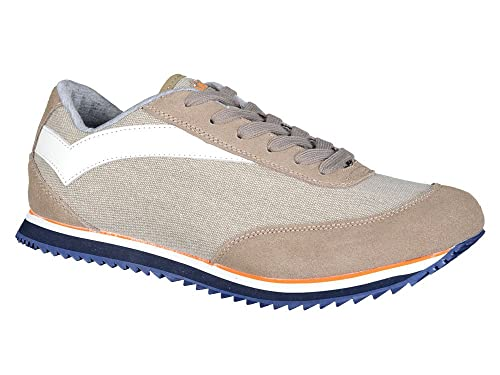 Gas Footwear Newcastle - Zapatillas de lona para hombre gris Light Grey 40.5 (7 UK