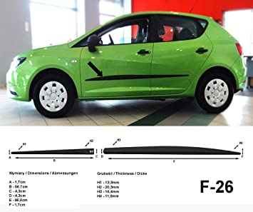 Spangenberg 370002604 - Listones de protección Lateral para Seat Ibiza V de 5 Puertas y Combi