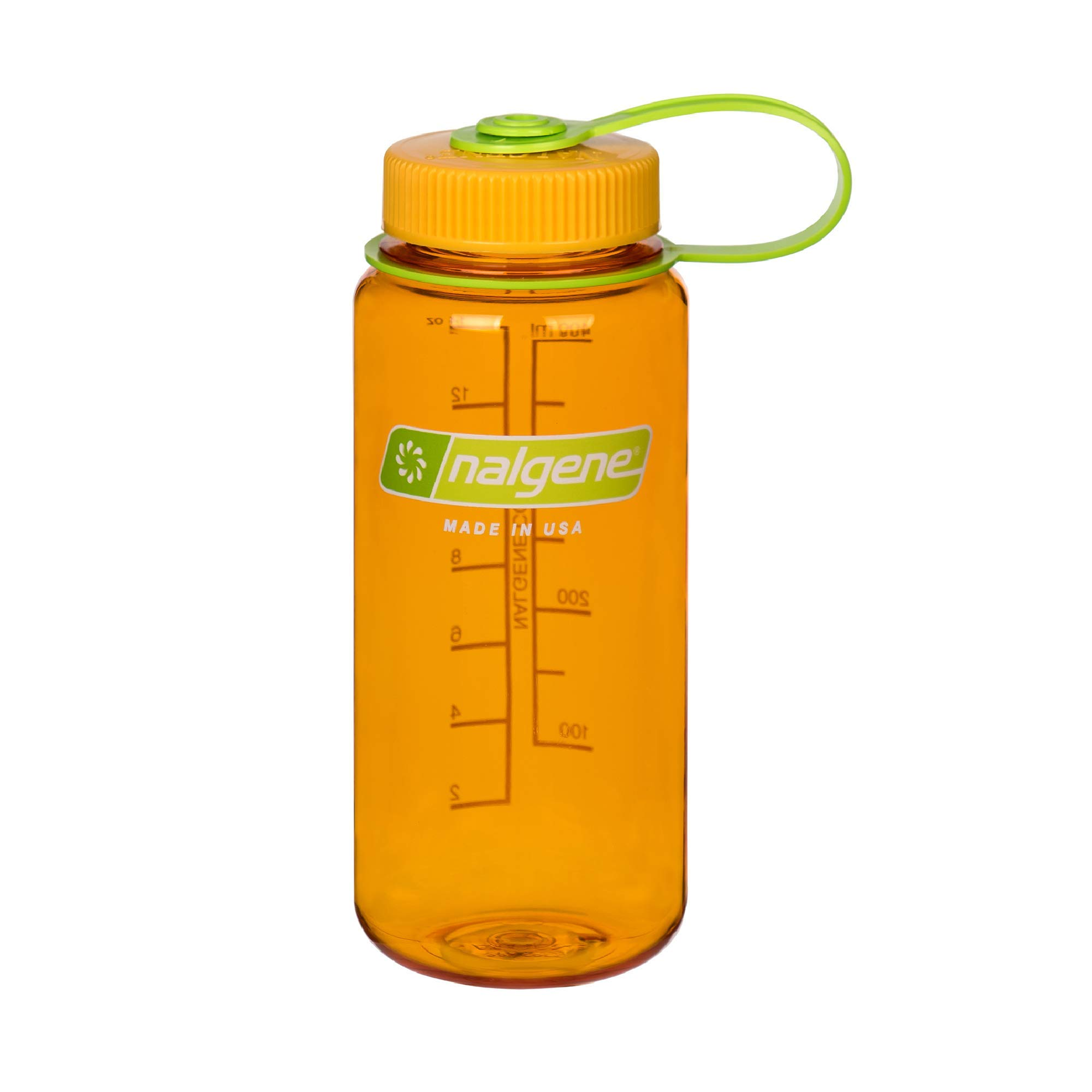 Nalgene Tritan Wide Mouth BPA-Free Water Bottle, Clementine, 16 oz (342071)