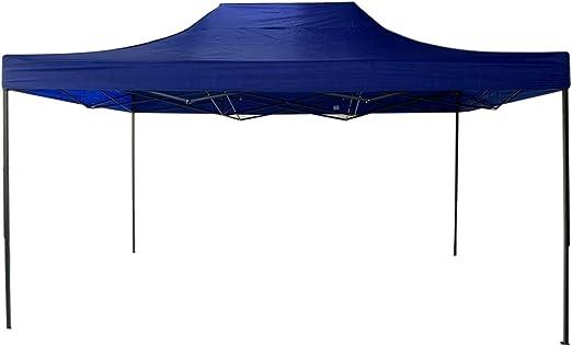 Rebecca Mobili Pabellón Cenador Plegable Azul Metal Poliéster Bolsa de Transporte Camping Festival Terraza - 3, 1x4, 5x3 m (A x AN x FON) - Art. RE6308: Amazon.es: Jardín